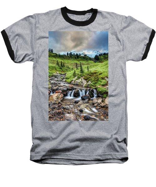 Baseball T-Shirt featuring the photograph Mount Rainier's Edith Creek by Pierre Leclerc Photography
