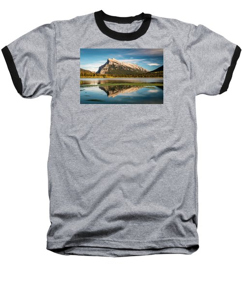 Mount Rundle Banff Baseball T-Shirt