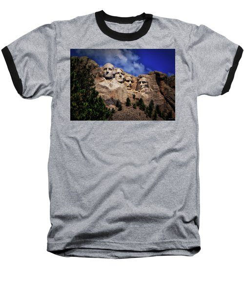 Mount Rushmore 008 Baseball T-Shirt by George Bostian