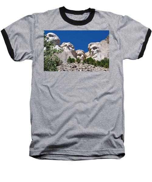 Mount Rushmore Close Up View Baseball T-Shirt