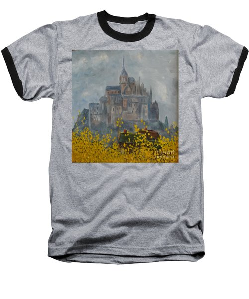 Baseball T-Shirt featuring the painting Mount Saint Michael by Rod Ismay