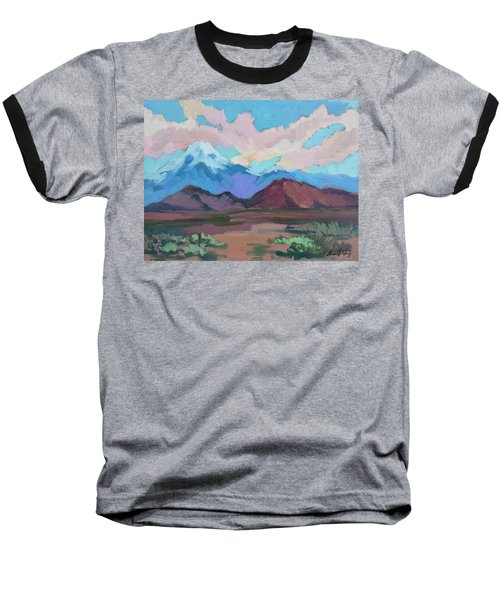 Baseball T-Shirt featuring the painting Mount San Gorgonio by Diane McClary