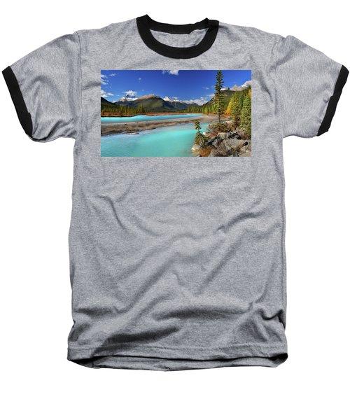 Baseball T-Shirt featuring the photograph Mount Saskatchewan by John Poon