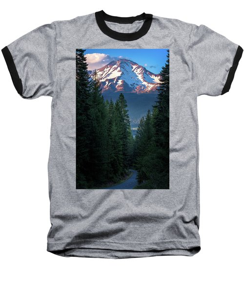 Mount Shasta - A Roadside View Baseball T-Shirt