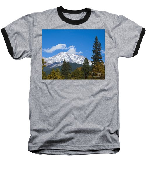 Mount Shasta California Baseball T-Shirt