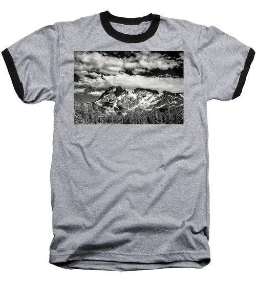 Baseball T-Shirt featuring the photograph Mount Shuksan Under Clouds by Jon Glaser