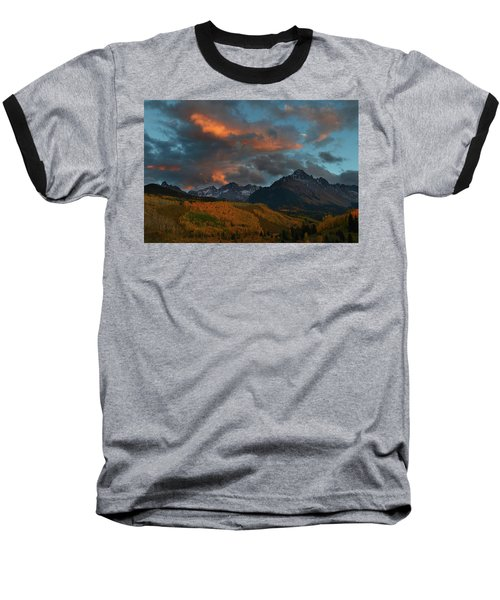 Mount Sneffels Sunset During Autumn In Colorado Baseball T-Shirt by Jetson Nguyen