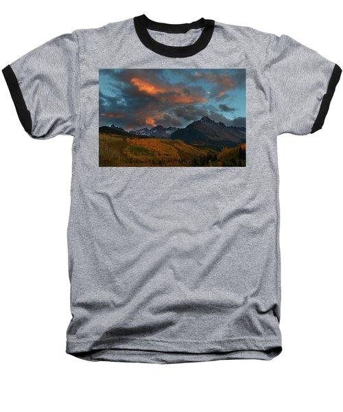 Mount Sneffels Sunset During Autumn In Colorado Baseball T-Shirt