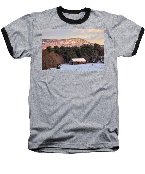 Mount Tom View From Southampton Baseball T-Shirt