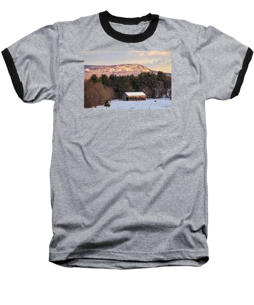 Mount Tom View From Southampton Baseball T-Shirt