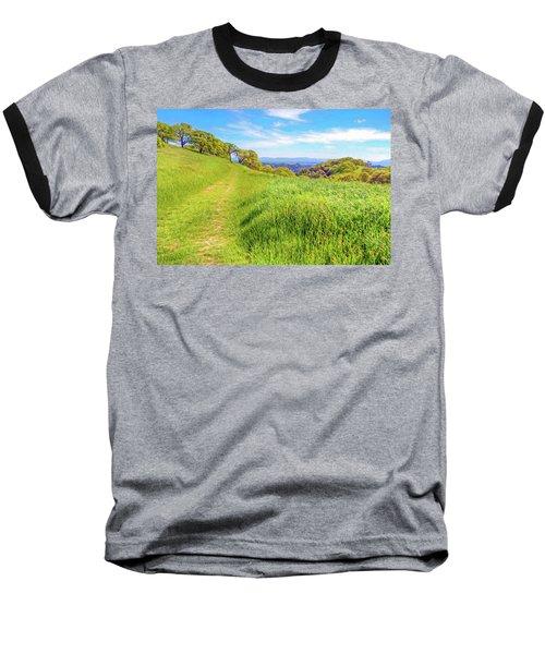 Mount Wanda Digital Watercolor Baseball T-Shirt