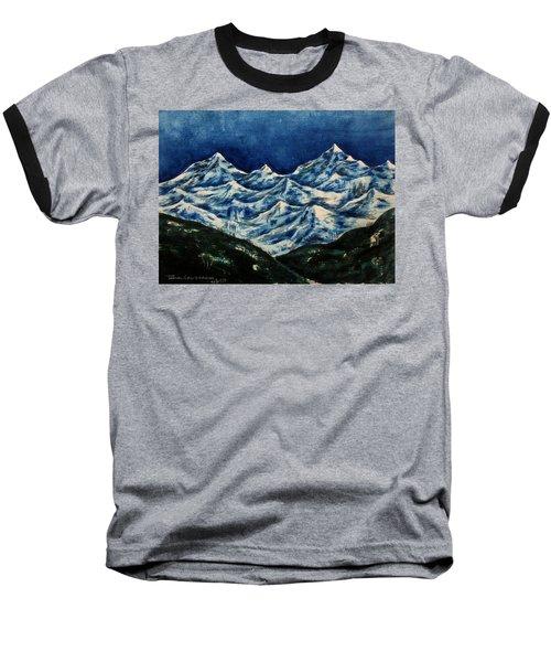 Mountain-2 Baseball T-Shirt
