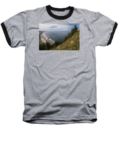 Mountain And Beach Baseball T-Shirt