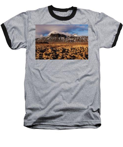 Mountain And Land, Iceland Baseball T-Shirt