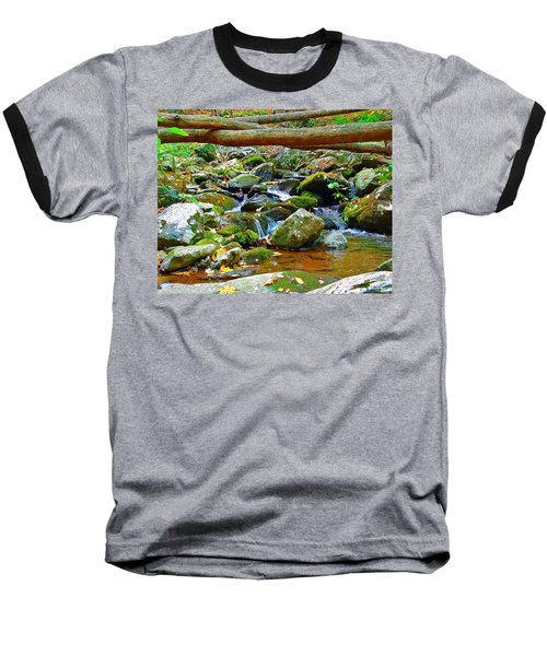 Mountain Appalachian Stream 2 Baseball T-Shirt