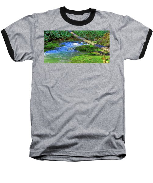 Mountain Appalachian Stream Baseball T-Shirt