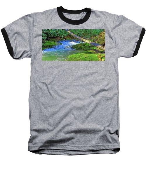 Mountain Appalachian Stream Baseball T-Shirt