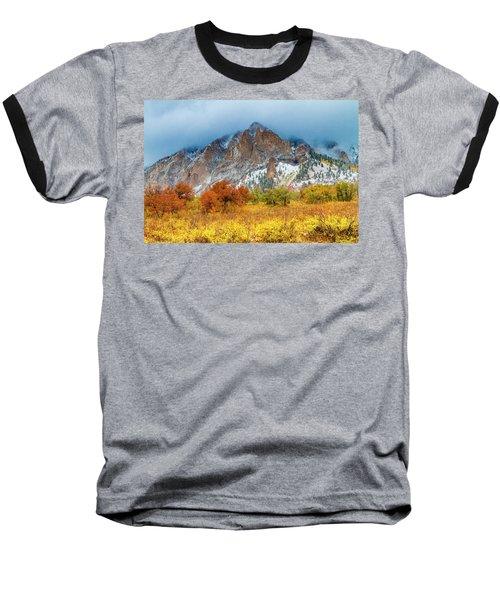 Mountain Autumn Color Baseball T-Shirt by Teri Virbickis