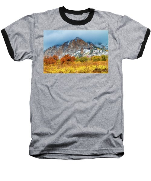 Mountain Autumn Color Baseball T-Shirt