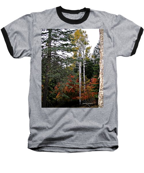 Mountain Autumn Baseball T-Shirt