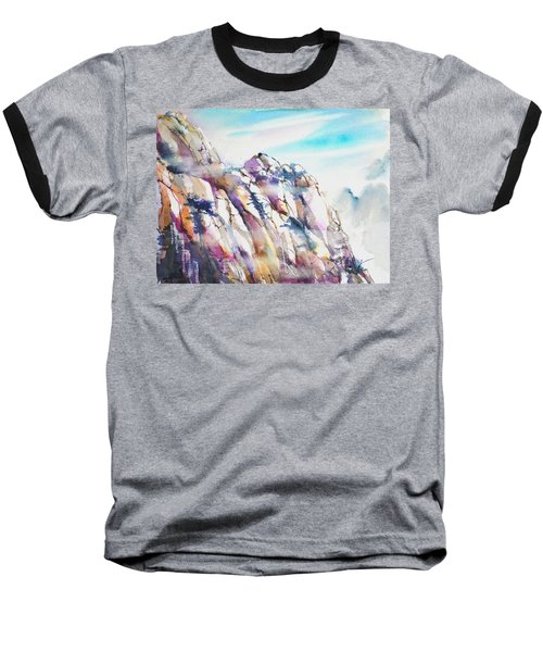 Mountain Awe #1 Baseball T-Shirt by Betty M M Wong