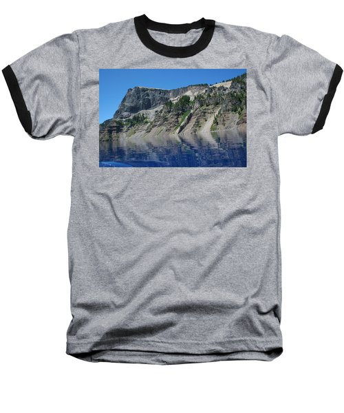 Baseball T-Shirt featuring the photograph Mountain Blue by Laddie Halupa