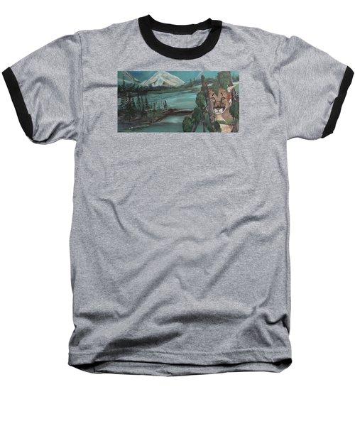Mountain Cat Baseball T-Shirt