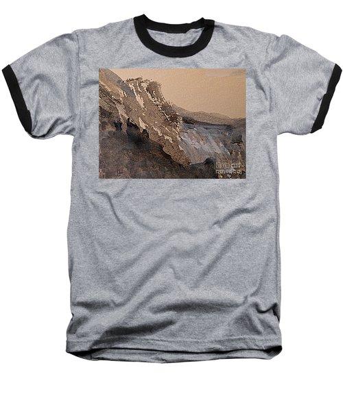 Mountain Cliff Baseball T-Shirt by Nancy Kane Chapman