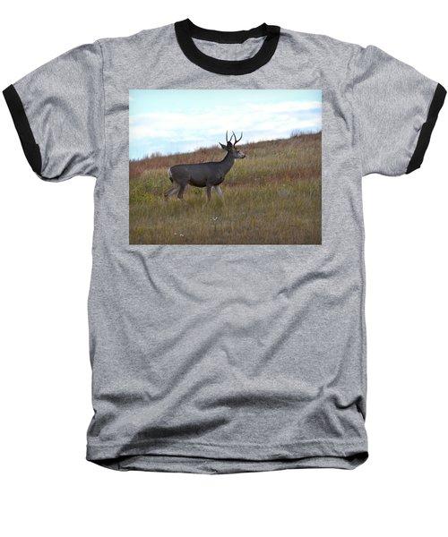 Mountain Climbing Deer Baseball T-Shirt