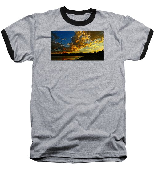 Mountain Colour Baseball T-Shirt by Eric Dee