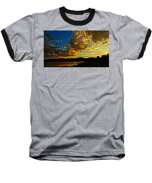 Mountain Colour Baseball T-Shirt