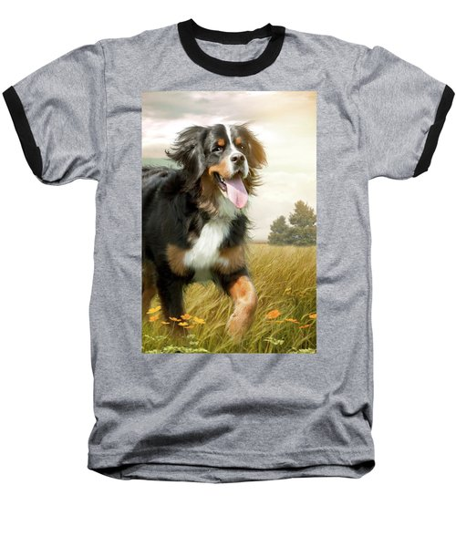 Mountain Dog Baseball T-Shirt