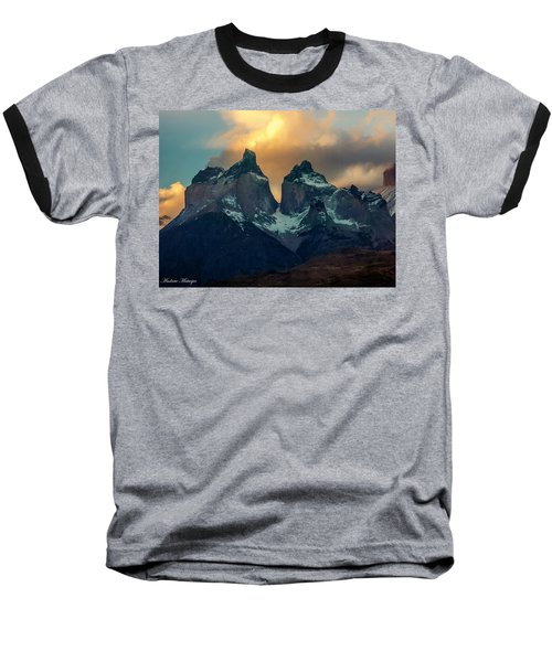 Baseball T-Shirt featuring the photograph Mountain Evening by Andrew Matwijec