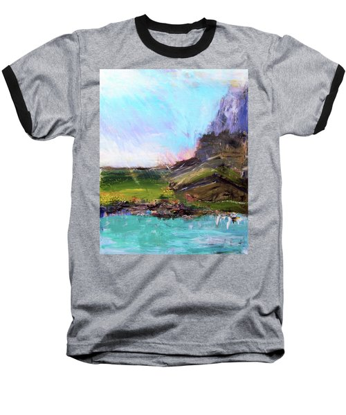 Mountain Fenceline Baseball T-Shirt