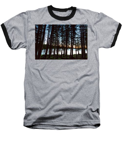 Baseball T-Shirt featuring the photograph Mountain Forest Lake by James BO Insogna