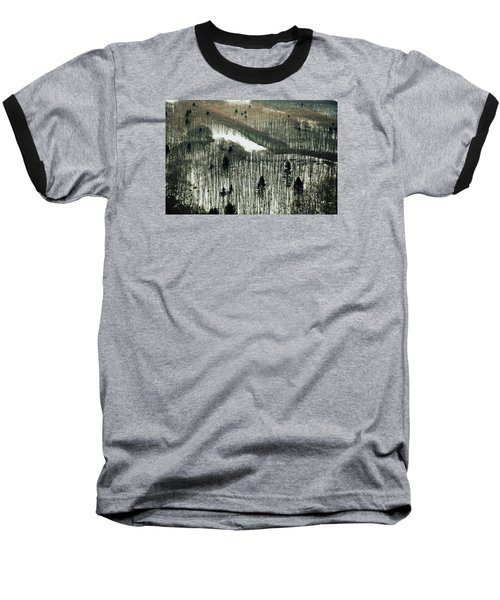 Mountain Forest Baseball T-Shirt by Vittorio Chiampan