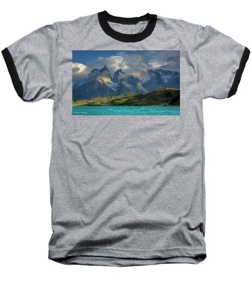 Baseball T-Shirt featuring the photograph Mountain Glimmer by Andrew Matwijec