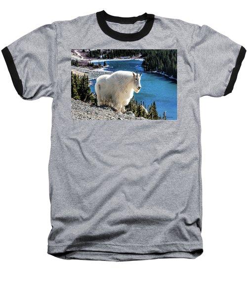 Mountain Goat At Lower Blue Lake Baseball T-Shirt