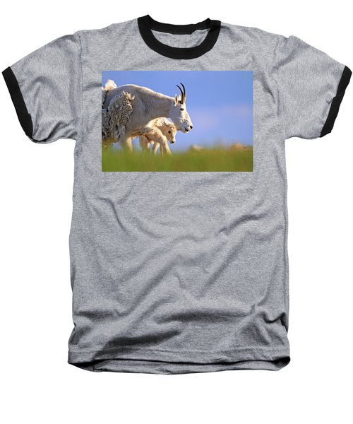Baseball T-Shirt featuring the photograph Mountain Goat Light by Scott Mahon