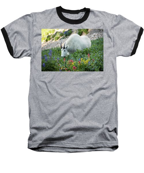 Mountain Goat On Timp Baseball T-Shirt