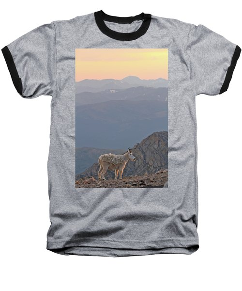 Baseball T-Shirt featuring the photograph Mountain Goat Sunset by Scott Mahon