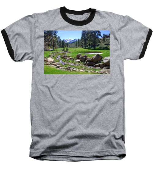 Mountain Golf Course Baseball T-Shirt