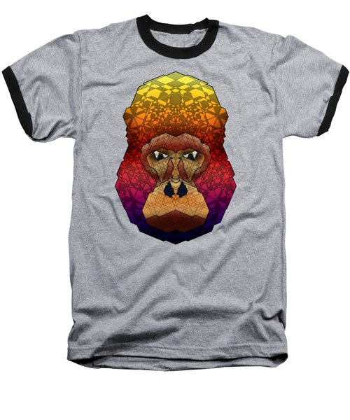 Mountain Gorilla Baseball T-Shirt by Dusty Conley
