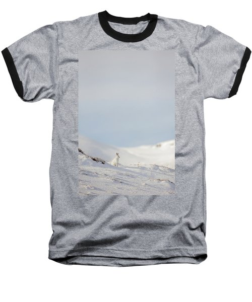 Mountain Hare On Hillside Baseball T-Shirt