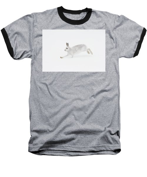 Mountain Hare Running Baseball T-Shirt