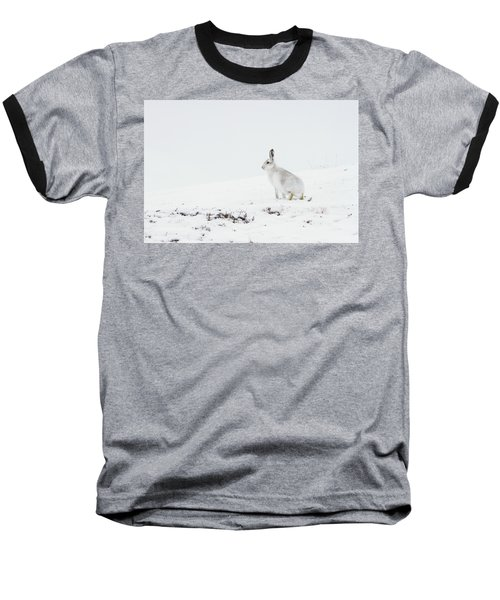 Mountain Hare Side On Baseball T-Shirt