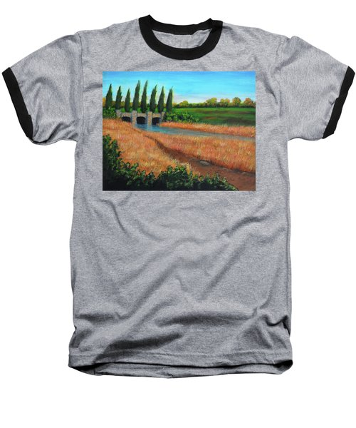 Mountain House In The Fall Baseball T-Shirt