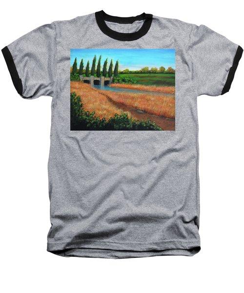 Mountain House In The Fall Baseball T-Shirt