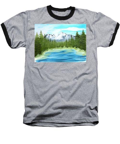 Mountain Imagining Baseball T-Shirt