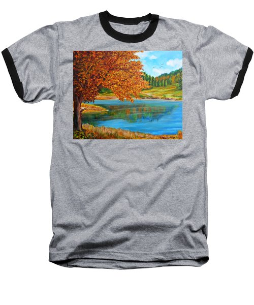 Mountain Lake In Greece Baseball T-Shirt